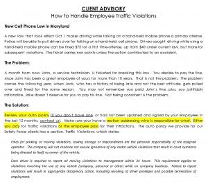 client advisory
